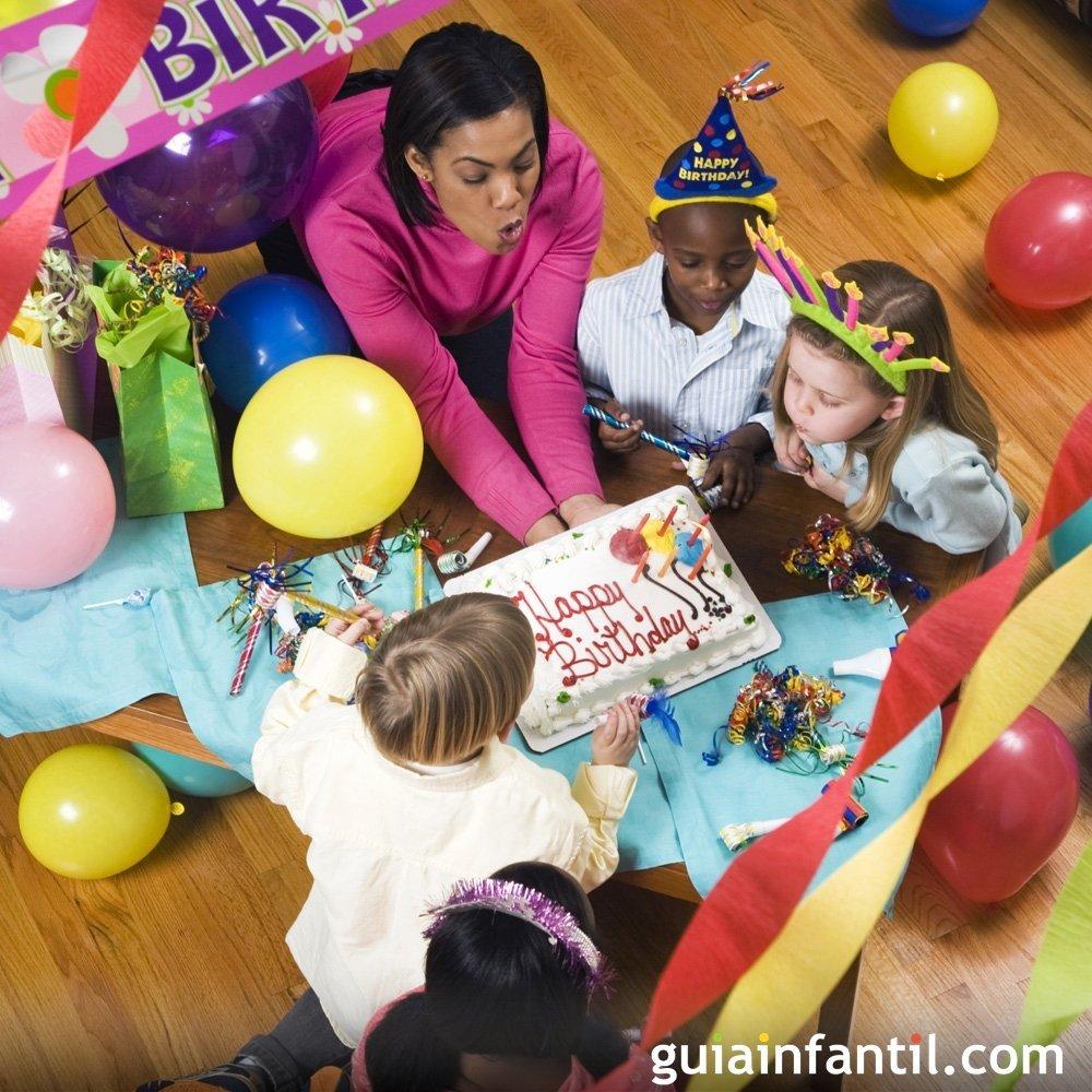 Preparativos para la fiesta de cumpleaos infantil
