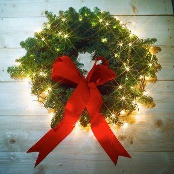 Coronas caseras de Navidad