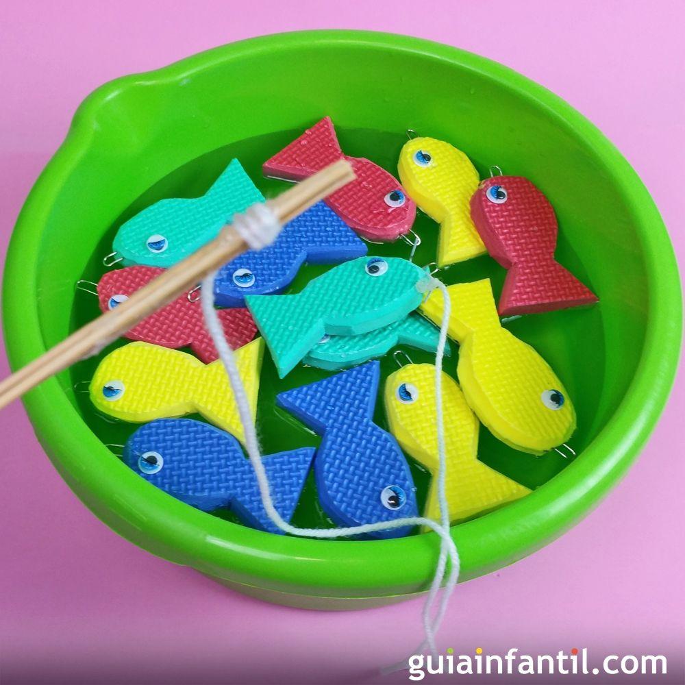 Juego pesca el pez Manualidades para nios