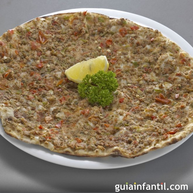 Receta de pizza turca para nios Lahmacun