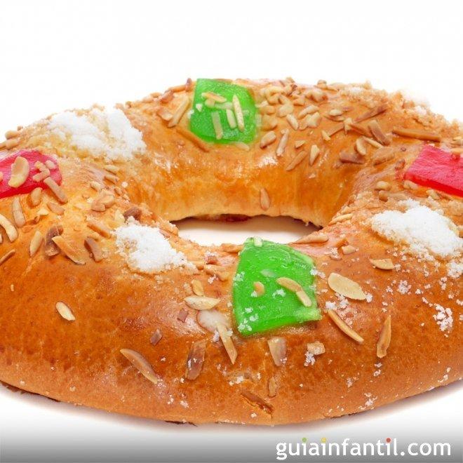 Roscón de Reyes tradicional de Navidad