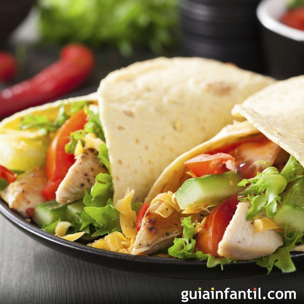 Fajitas de pollo Comida mexicana para nios