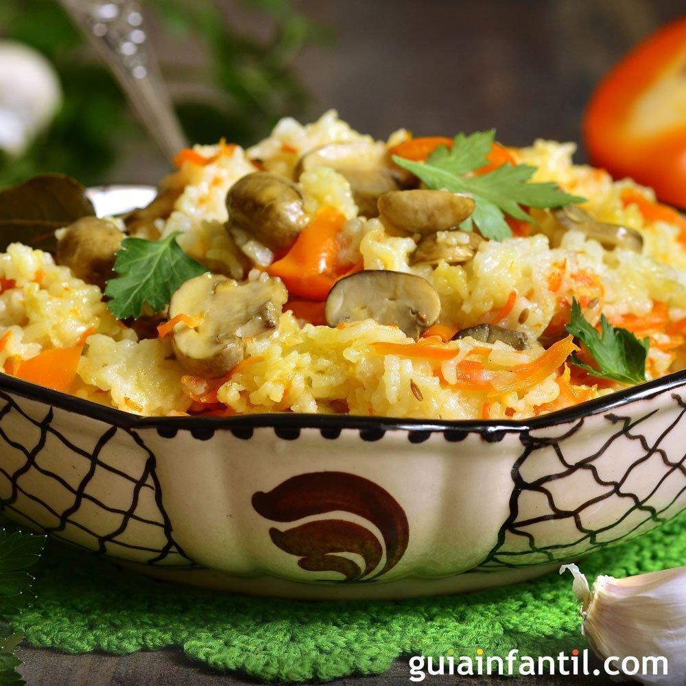 Arroz con verduras sano y rpido