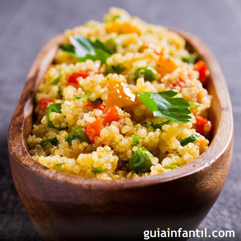 Qunoa con verduras Recetas fciles y nutritivas