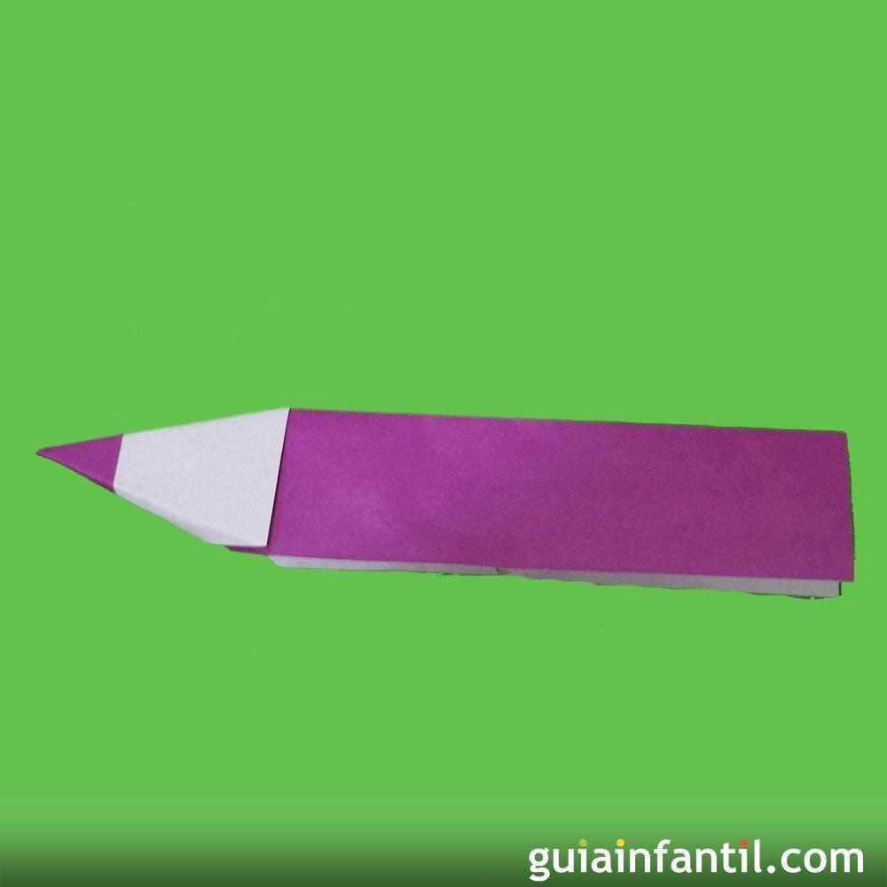 Papiroflexia cmo hacer un lpiz de papel