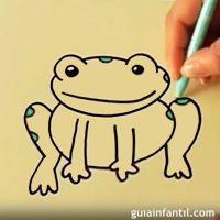 Cmo dibujar una rana. Dibujos infantiles