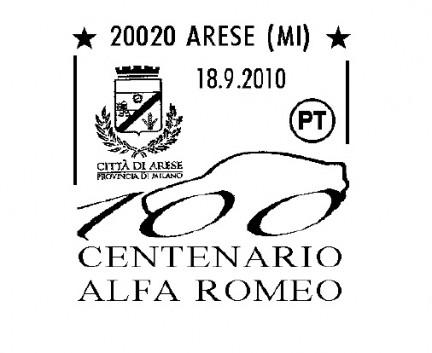 Centenario Alfa Romeo: l'annullo