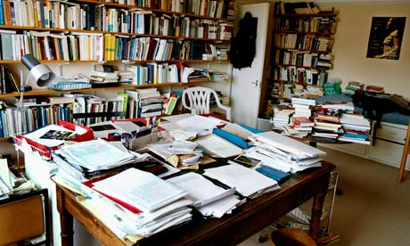 Eric Hobsbawm's writing room … 'May his books be read for many years to come.' Photograph: Eamonn McCabe for the Guardian