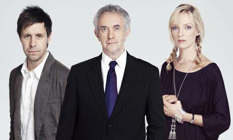 Paddy Considine, Jonathan Pryce, and Uma Thurman, in 'My Zinc Bed'