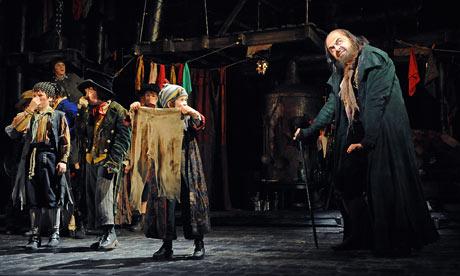 Rowan Atkinson as Fagin in Oliver!