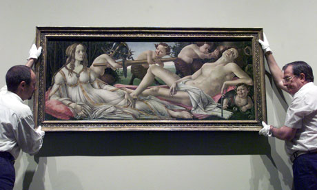 Sandro Botticelli's Venus and Mars at the National Gallery