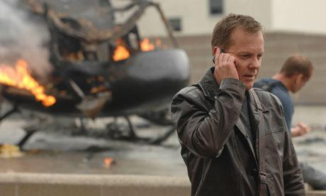 Kiefer Sutherland as Jack Bauer in 24.