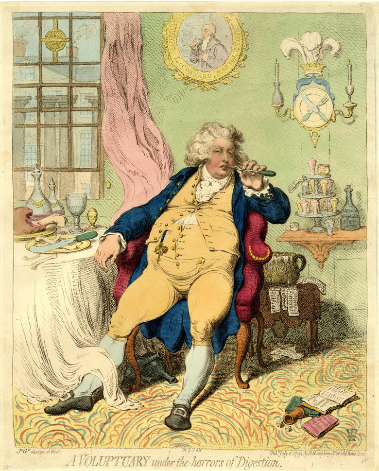 James Gillray's A Voluptuary Under the Horrors of Digestion