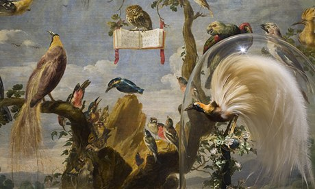 A Prado installation in front of Frans Snyders' Concert of the Birds.