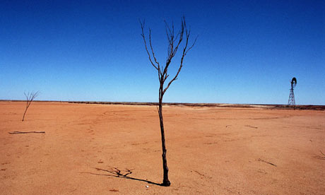 Drought-hit land in New South Wales, Australia in 2007