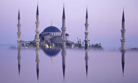 Istanbul Blue Mosque minarets