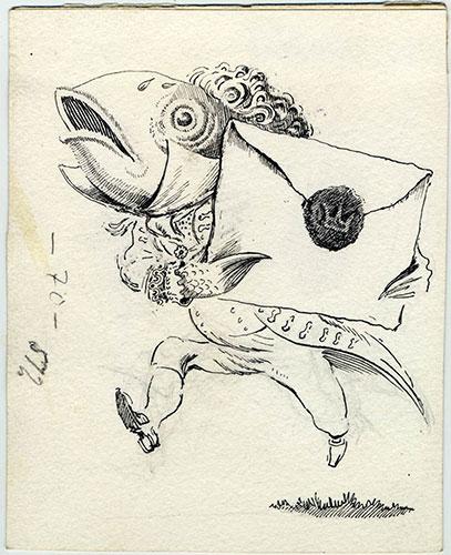 Mervyn Peake: Mervyn Peake fish footman