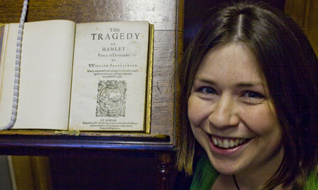 Pip Willcox, digital editor at the Oxford digital library with 1611 quarto edition of Hamlet.