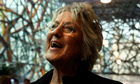 Author Germaine Greer poses for photographers during a media launch in Melbourne