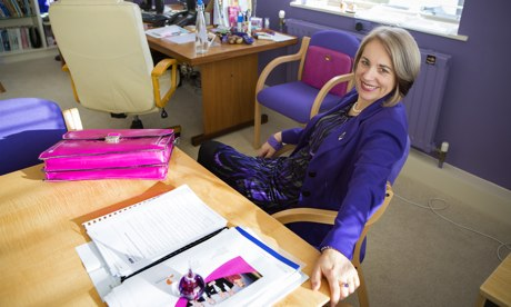 Joy Carter, vice-chancellor of Winchester University, in her office
