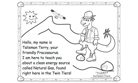 'Fracking' company targets US children with colouring book