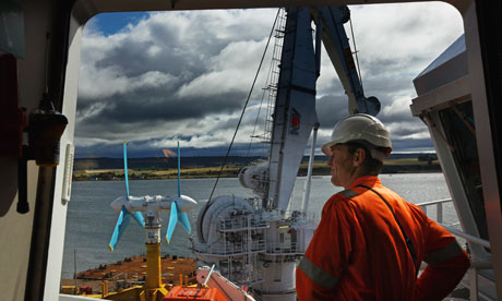 Tidal energy is a growth industry in Scotland.