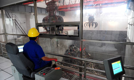 incinerator at a plant in Qionghai, Southern Hainan province of China