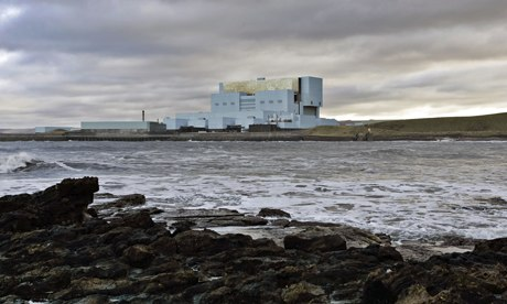 Torness nuclear power plant, seen from Skateraw Bay near Dunbar in East Lothian
