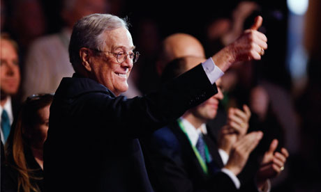 Koch Industries Executive Vice President David H. Koch : Funding climate chang deniers