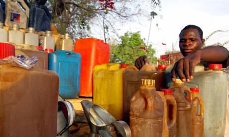 Nigerian gasoline vendor