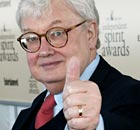 Return of the hack ... Roger Ebert before cancer forced him to give up broadcasting.