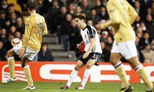 Dempsey dopo aver segnato a Buffon. Ops, sbagliata immagine...