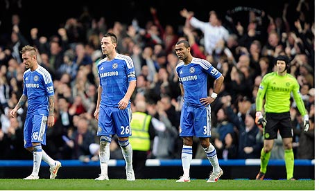 Dejected Chelsea after another draw