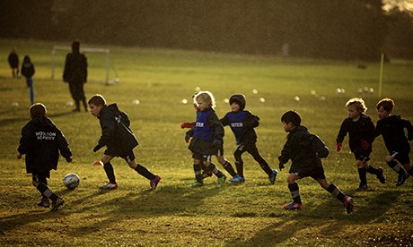 Children during a session at Woolton FC