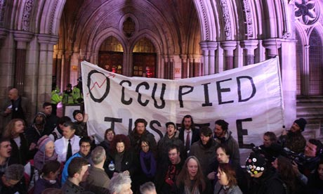 Protestors Occupy London high court