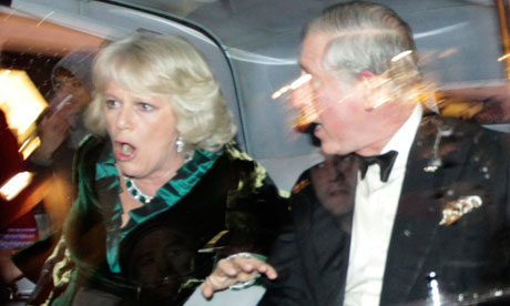 Prince Charles and Camilla as royal car is attacked