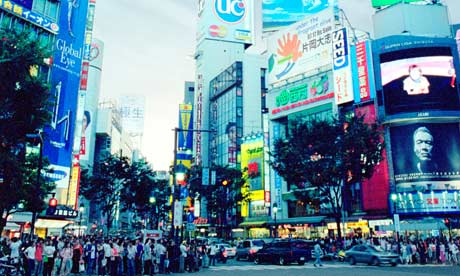 Advertising in Tokyo. Photograph: Mike Long / Alamy/Alamy