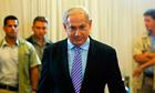 Binyamin Netanyahu arrives to testify to an inquiry into the Israeli raid on a Gaza aid flotilla
