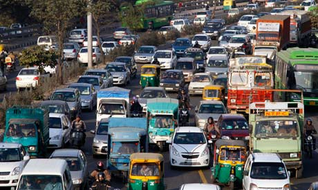 Image result for overcrowded roads of delhi