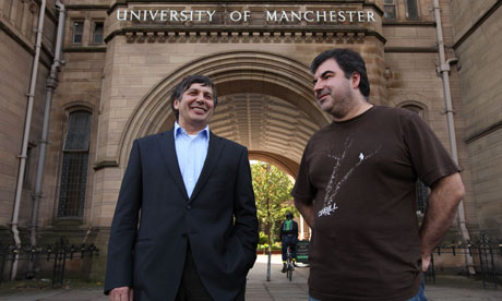 Nobel winners Andre Geim and Dr Konstantin Novoselov