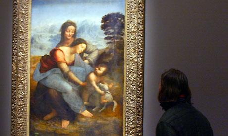 La vierge, l'Enfant J sus et Sainte Anne by Leonardo da Vinci