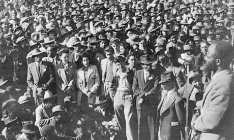 ANC supporters gather in the 1950s