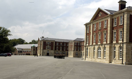 The Royal Military Academy in Sandhurst. Photograph: Frank Baron for the Guardian
