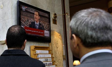 bashar al-assad syrian protests