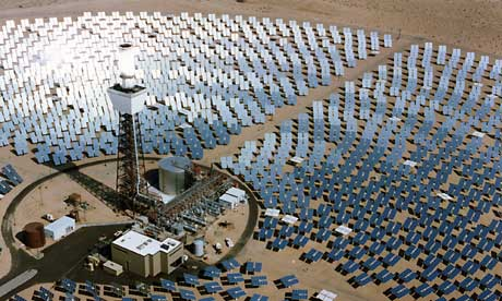 A solar power plant in the Mojave desert
