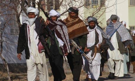 Taliban militants surrender