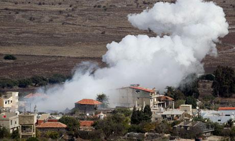 Smoke in Israeli-Syrian border