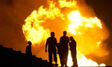 Egyptian Bedouin Sinai pipeline