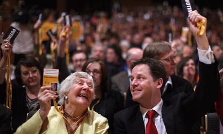 Shirley Williams and Nick Clegg