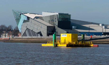 A tidal stream power generator in the river Humber